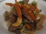 King Island Beef stirfry with cashew and peanut