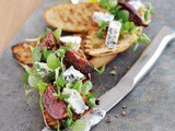 Gorgonzola Bruschetta with Balsamic Figs