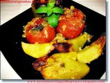 Aromatic stuffed veggies with rice