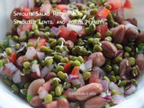 Sprouts Salad Recipe with Sprouted Lentil(moong sprouts) and boiled peanuts