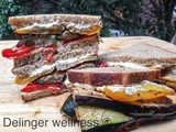 Grilled Vegetable Sandwiches with Vegan Cream Cheese