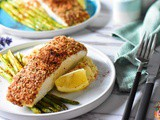 Almond Crusted Halibut with Cauliflower Mash