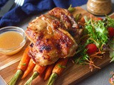 Goma Dare Roast Chicken with Maple Carrots