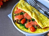 Smoked Salmon Egg Crepe (Whole30, Paleo)