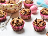 Whole Wheat Chocolate Chips Zucchini Muffins