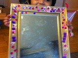 Mirror work for kids / Usage of glue / Rhinestone project for kids / 3 year old craft project