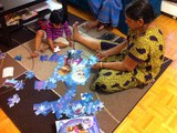 Solving Puzzles with Family / Family Time with Kids