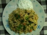 Cracked Wheat Pulov (Come on- lets cook buddies) Entry 26