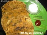 Mooli Ka paratha (Stuffed Radish Leaves Paratha) (Come on - Lets Cook Buddies ) Entry 38