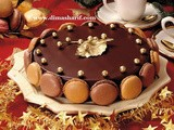 Chocolate Mousse Macaron Cake, a glamorous Dessert for Hosts with The Most