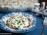 Fattet Fool Akhdar (Layered Platter of Grean Broad Beans)