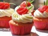 Fresh Strawbery Cupcakes With Hints of Rosemary