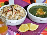 Mloukieh o Djaj - Stew of Jute Leaves with Roasted Chicken