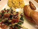 Thanksgiving for Two: Kale and Apple Salad with Pancetta and Candied Pecans