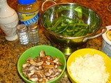 Green Bean, Mushroom and Onion Side Dish