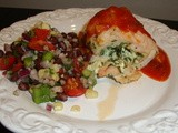 Maria Menounos Stuffed Chicken and Bean Salad