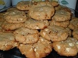 Peanut Butter-White Chocolate-Pretzel Cookies