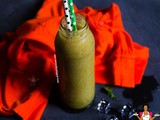 Green Pineapple Cucumber Date Smoothie