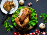 Simple whole roast garlic-chili chicken - How to roast chicken whole