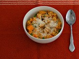 Butternut Squash and Pea Risotto