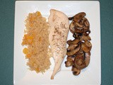 Roasted Chicken and Mushrooms with Couscous