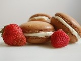 Strawberry Macarons with White Chocolate Ganache Filling