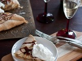 Caramel Apple Galette with Champagne Whipped Cream