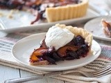Cherry Peach Tart With Coconut Cointreau Whipped Cream (Vegan)