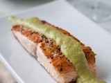 Chilean Salmon with Avocado Cream Sauce