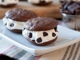 Chocolate Fudge Bourbon and Whipped Cream Sandwich Cookies
