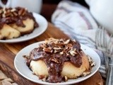 Cinnamon Rolls With Chocolate Bourbon Caramel Pecan Sauce & a King Arthur Flour Giveaway