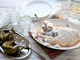 Salt Roasted Whole Fish with Grilled Artichokes