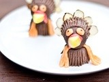 Thanksgiving Craft: Chocolate Turkeys Made From Halloween Candy