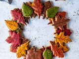 Autumn Leaf Maple Cookie Wreath (Vegan)