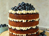 Blueberry Banana Buckwheat Layer Cake