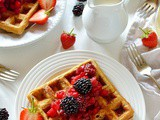 Cinnamon Waffles With Apple And Blackberry Compote