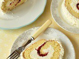 Coconut & Cherry Swiss Roll
