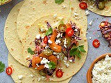 Crispy Shrimp Tacos With Chipotle Red Cabbage Slaw