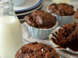 Double Chocolate Almond Raisin Muffins & a Giveaway