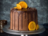 Orange and Almond Cake With Chocolate Buttercream (Vegan)