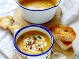 Spiced Red Lentil And Root Vegetable Soup (Vegan)