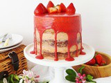 Strawberry, Elderflower & Almond Layer Cake