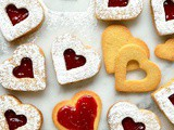 Valentine's Day Linzer Biscuits (Cookies)