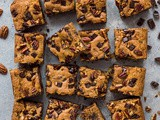 Vegan Peanut Butter Chocolate Chip Pecan Bars