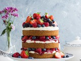 Vegan Vanilla Cake With Berries and Jam