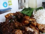 Kam Heong Chicken (Stir-fried chicken in dried prawn and curry leaf sauce)