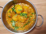 Dum Aloo Recipe | Potatoes in Tomato & Yoghurt Gravy