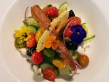 Greek Salad With Edible Flowers, Andrea's Recipe