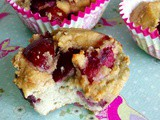 Healthier cherry bakewell buns 2 ways- paleo or wholegrain