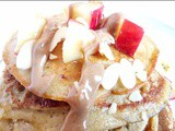 Healthy oaty apple pie blender pancakes